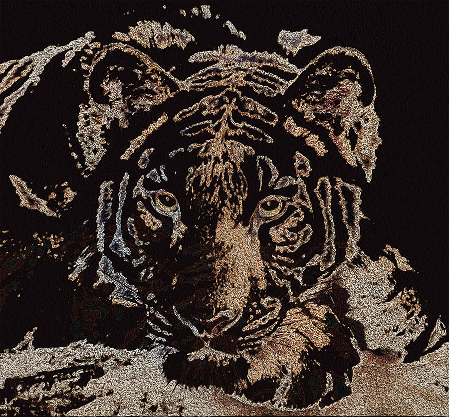 Textured Tiger by Stephanie Grant