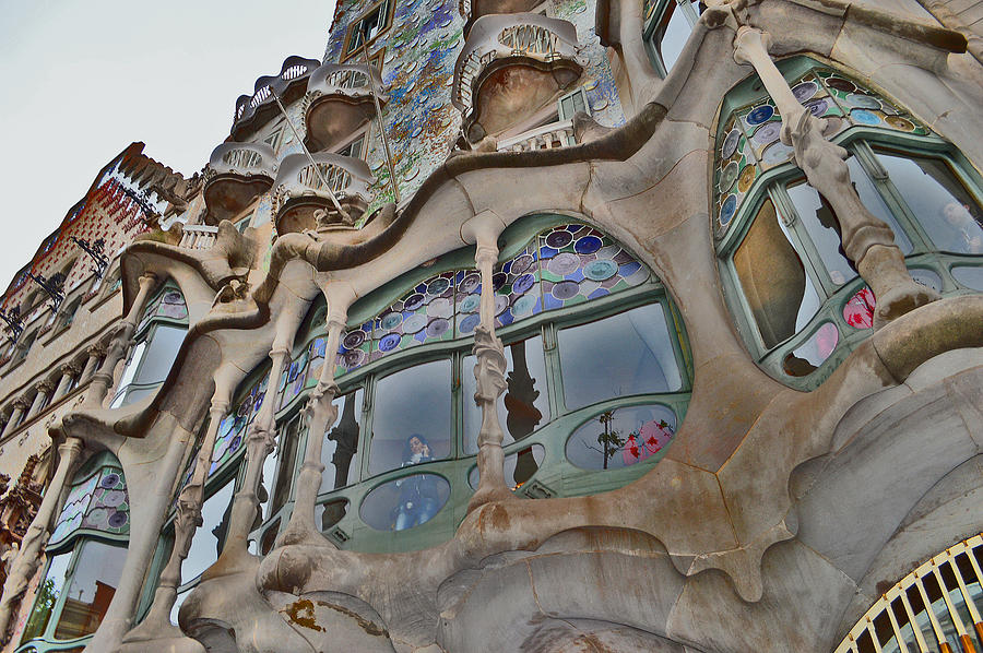 Catalan Modernism Photograph - Textures. Gaudi. Modern Style. by Andy Za