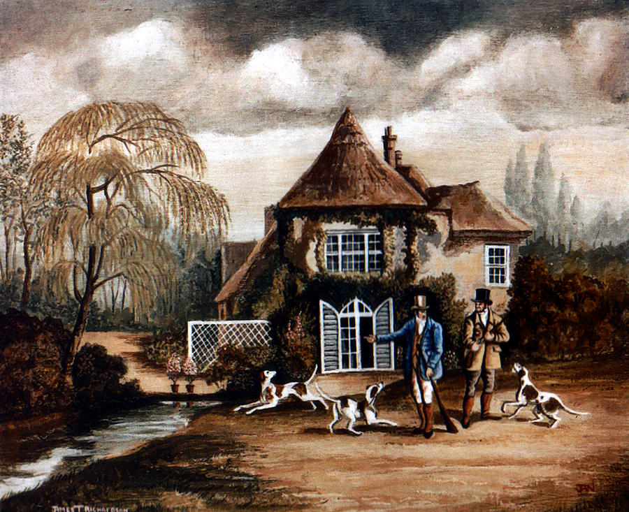 Th Hunting Lodge. Painting by James Richardson