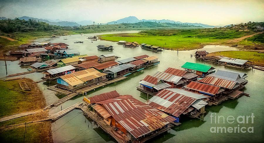Thailand Photograph - Thai Floating Village by Adrian Evans