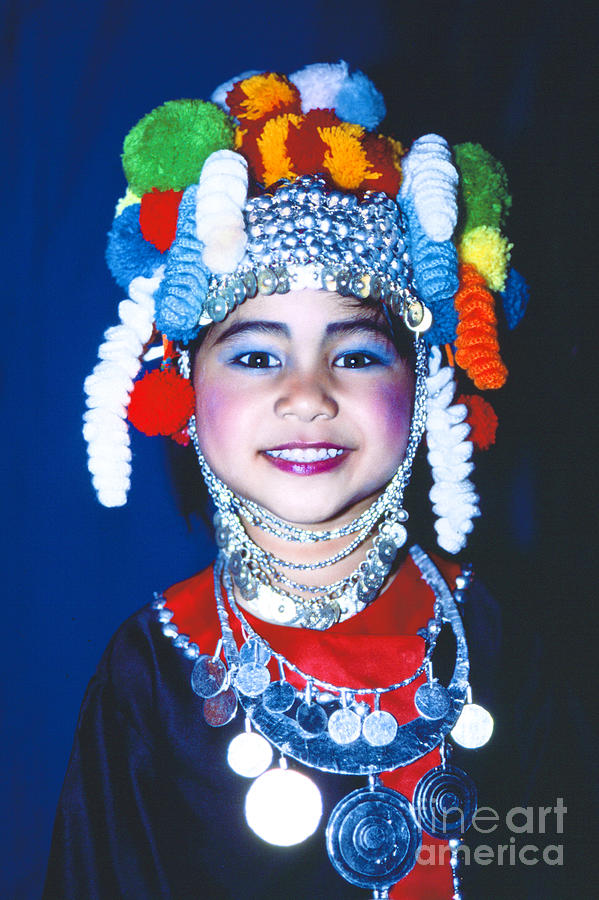 Thai Girl Traditionally Dressed Photograph