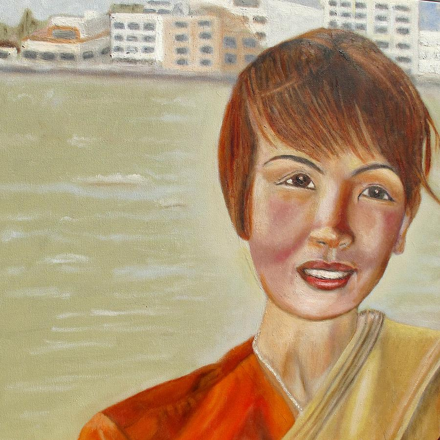 Thai Painting - Thai Hostess by Keith Bagg