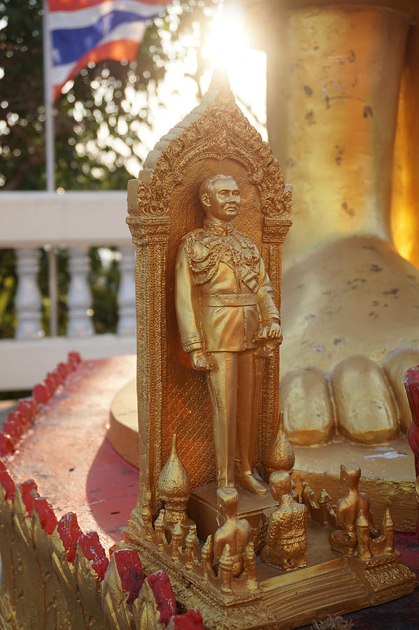 King Photograph - Thai King Statuette by Don Charisma
