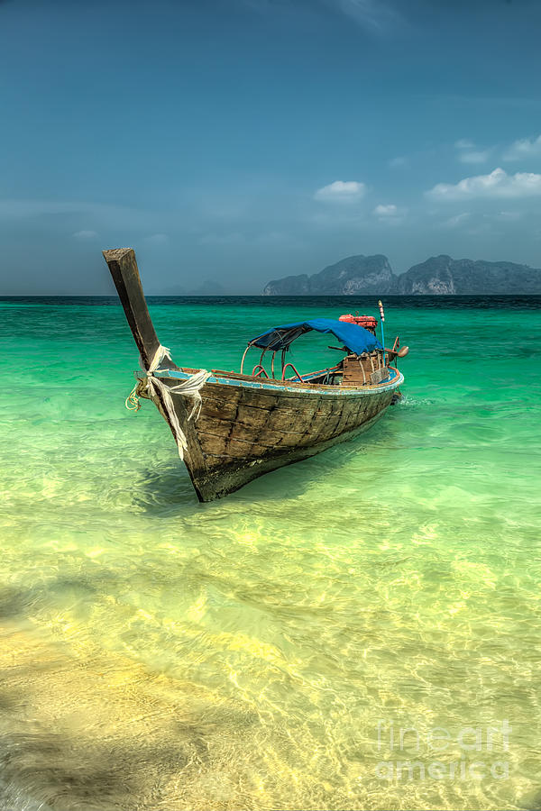 Boat Photograph - Thai Longboat  by Adrian Evans