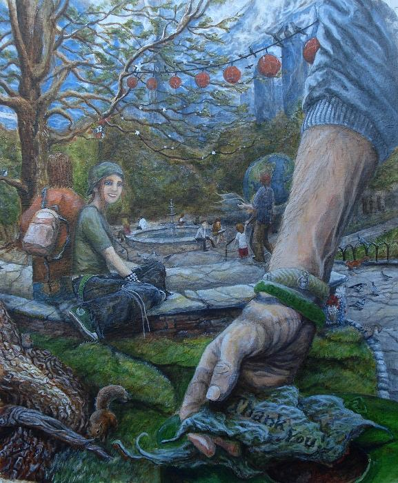 Hand Painting - Thank You For Lending A Hand by James Groeling