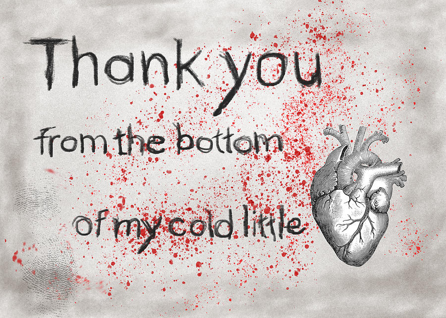 Thank You Digital Art - Thank You From My Heart by Mary Elizabeth Thompson
