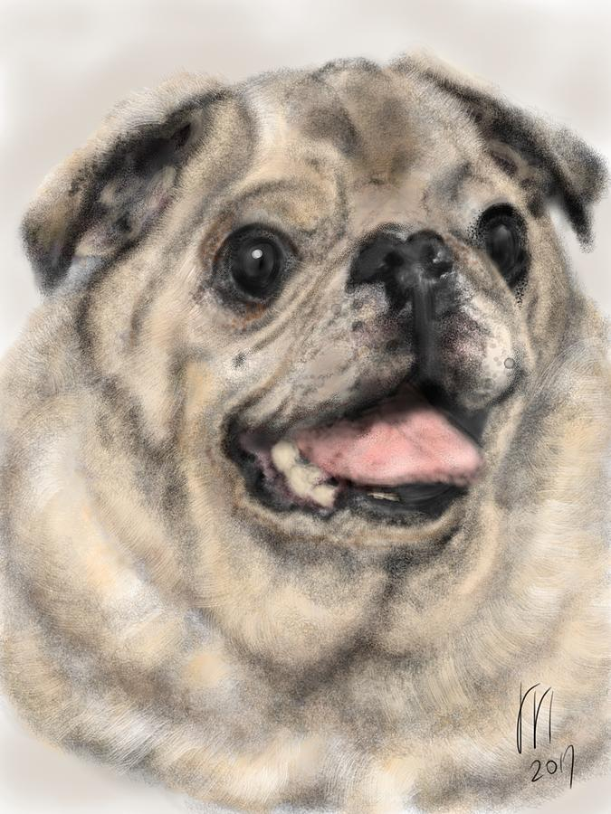 Pug Digital Art - Thanks For The Memories  by Lois Ivancin Tavaf
