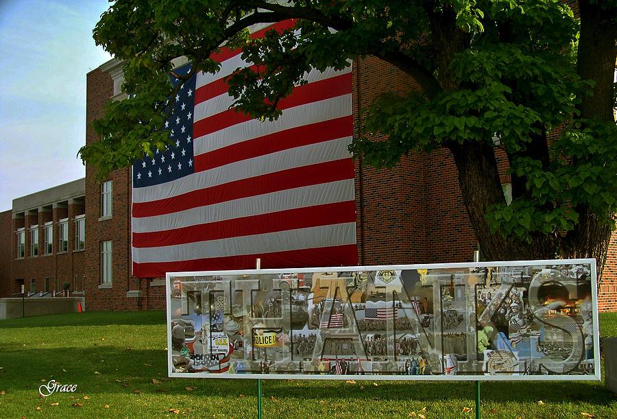 Veterans Photograph - Thanks Tribute by Julie Grace