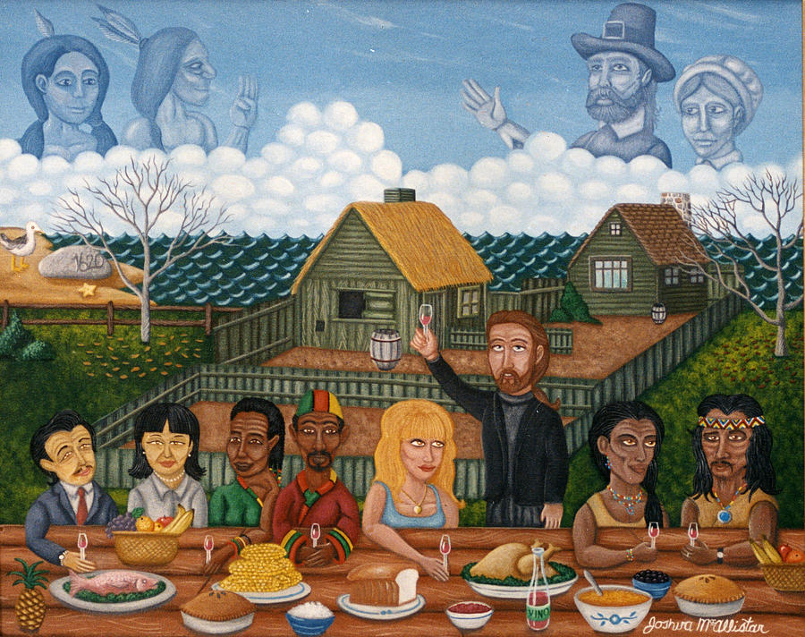 Folk Art Thanksgiving Paintings