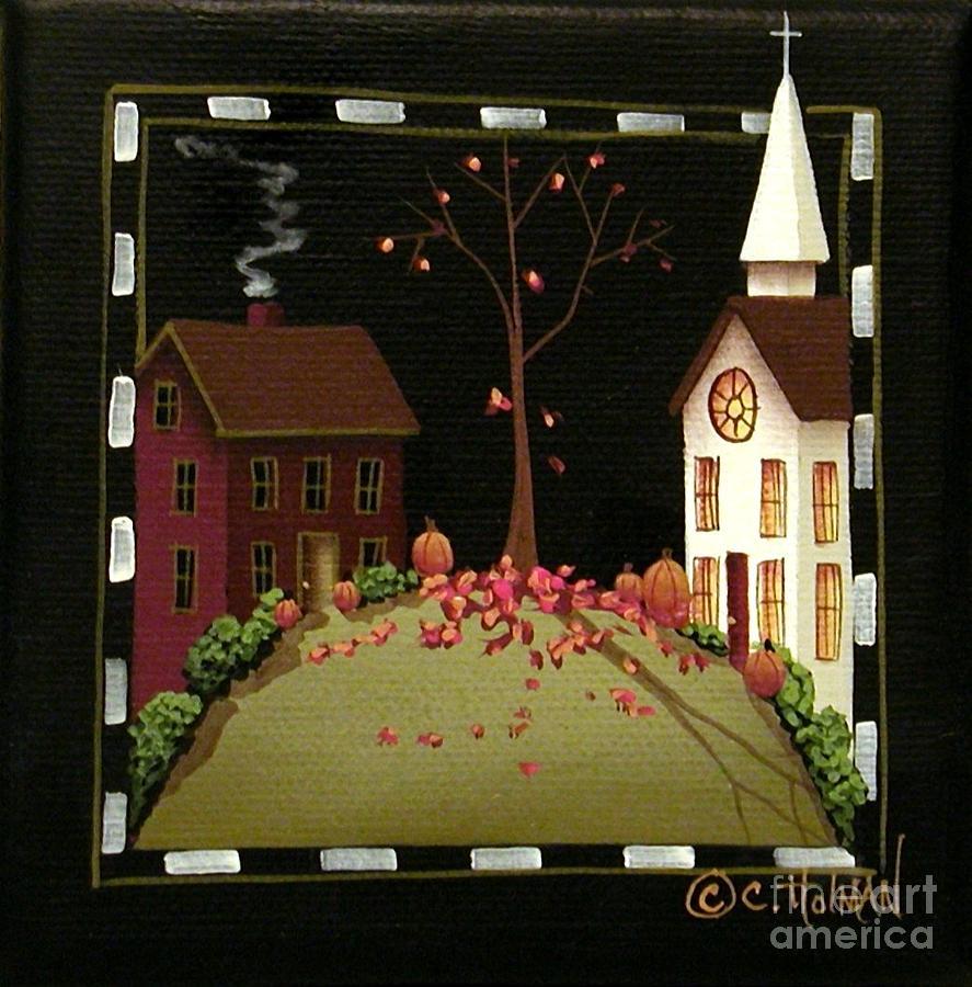 Art Painting - Thanksgiving In Kirkwood Village  by Catherine Holman
