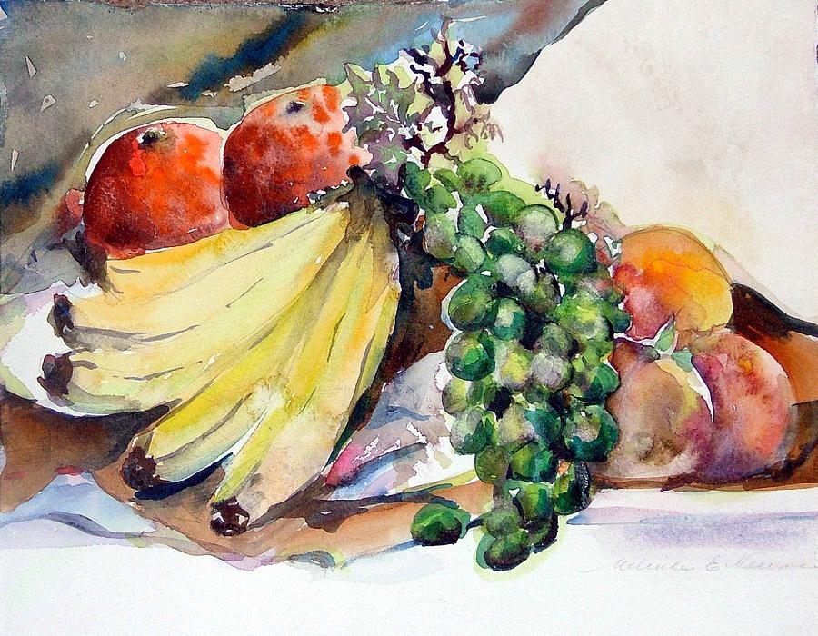Fruit Painting - Thanksgiving by Mindy Newman