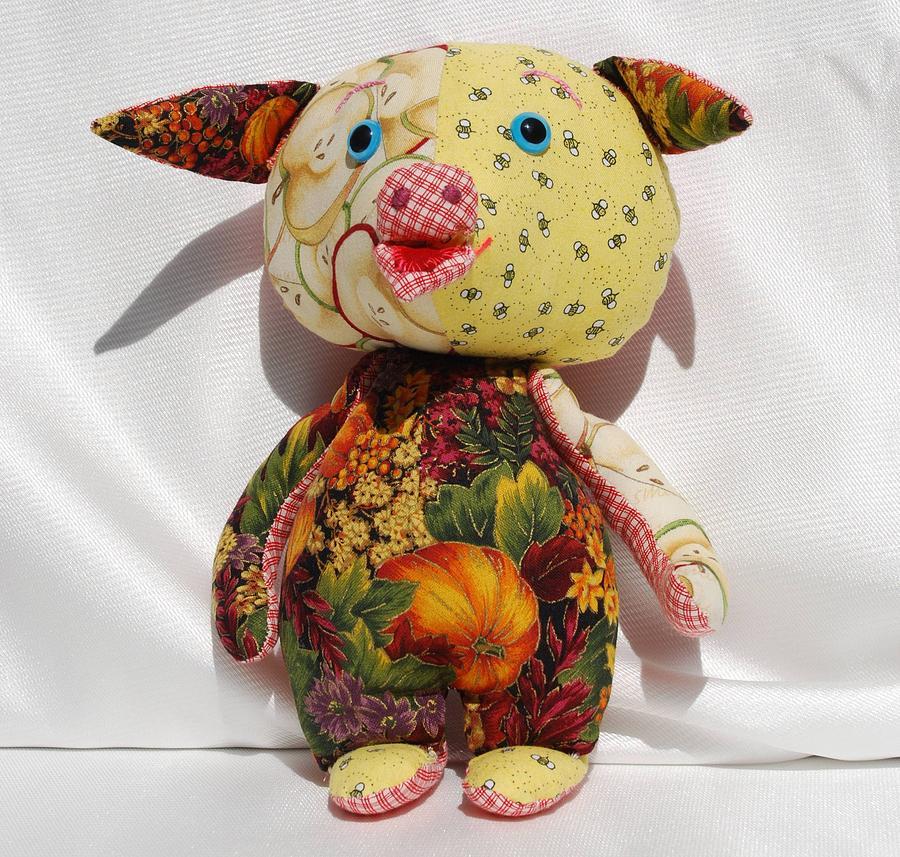 Piggly Tapestry - Textile - Thanksgiving Piggly by Tamara Konovalova