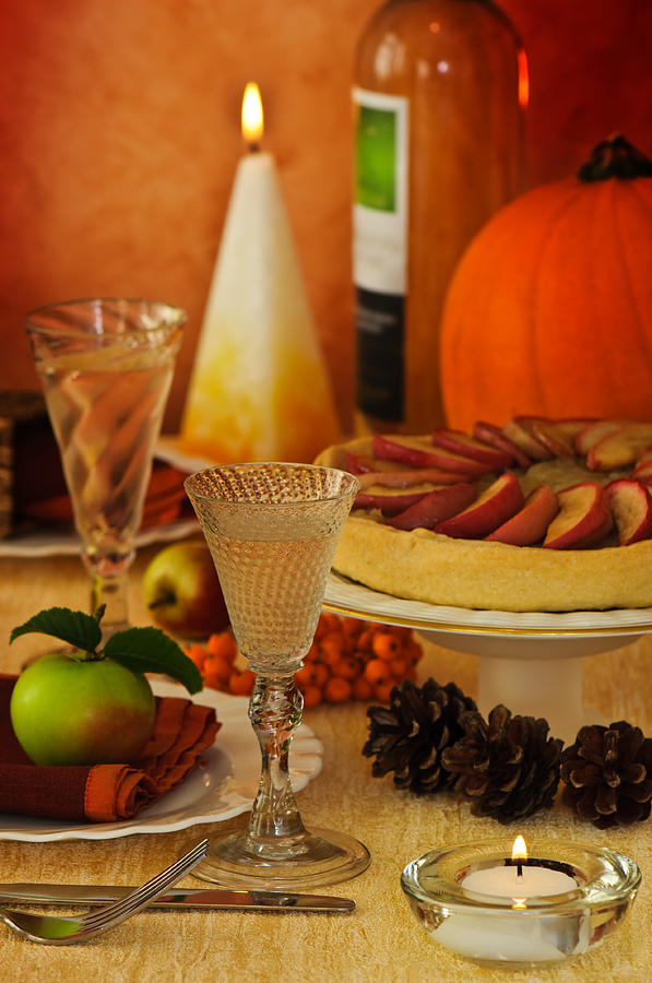 Thanksgiving Photograph - Thanksgiving Table by Amanda Elwell