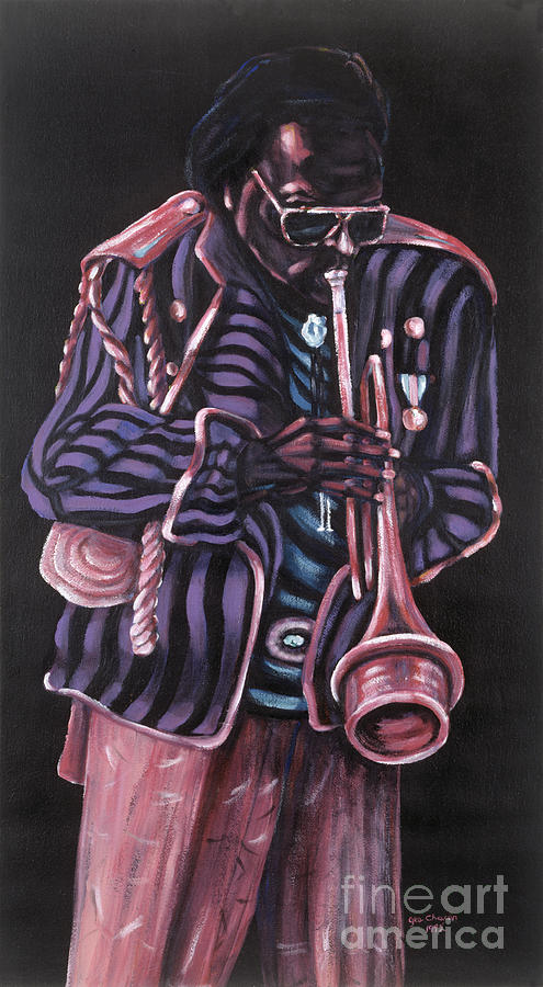 Jazz Musicians Painting - thanx Miles Davis by George Chacon