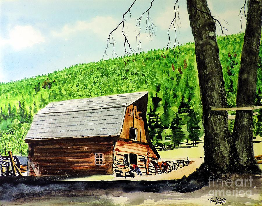 Wyoming Painting - That Barn From That Movie by Tom Riggs