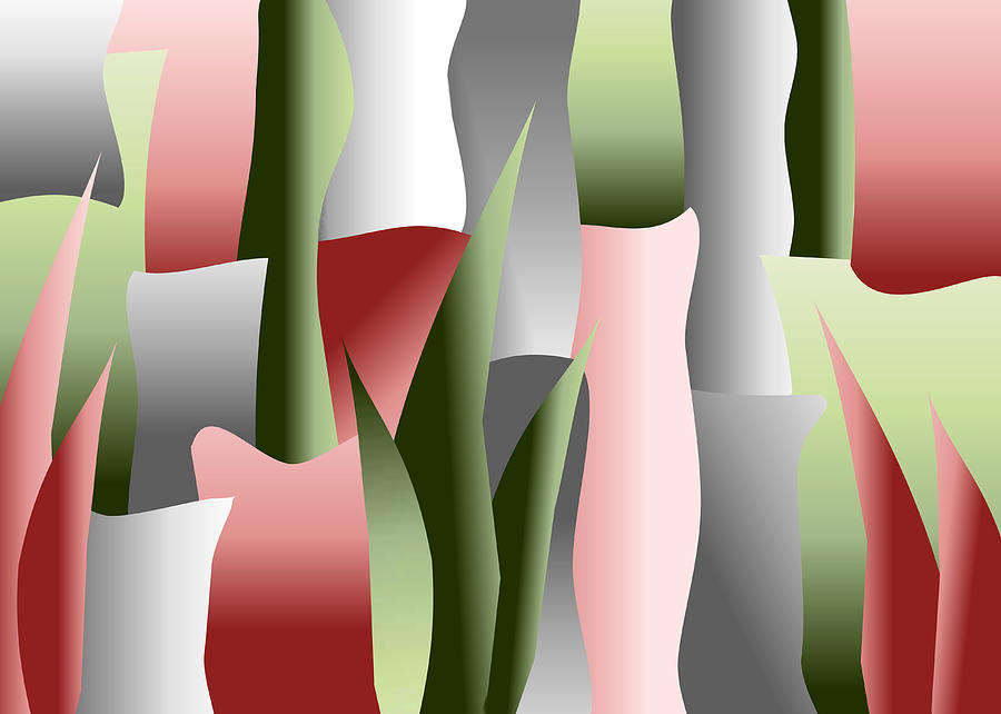 Art Deco Digital Art - That Crimson Glow by Tara Hutton