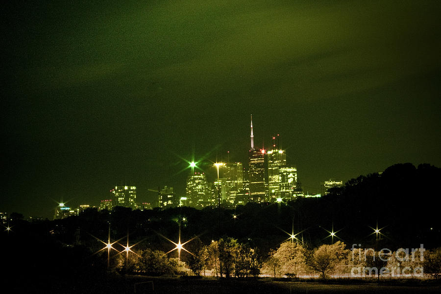 Cn Tower Photograph - That Green Night by Leo Bello