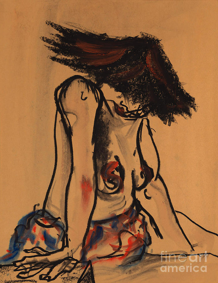 Figure Mixed Media - That Hat by Lorrie Galvin