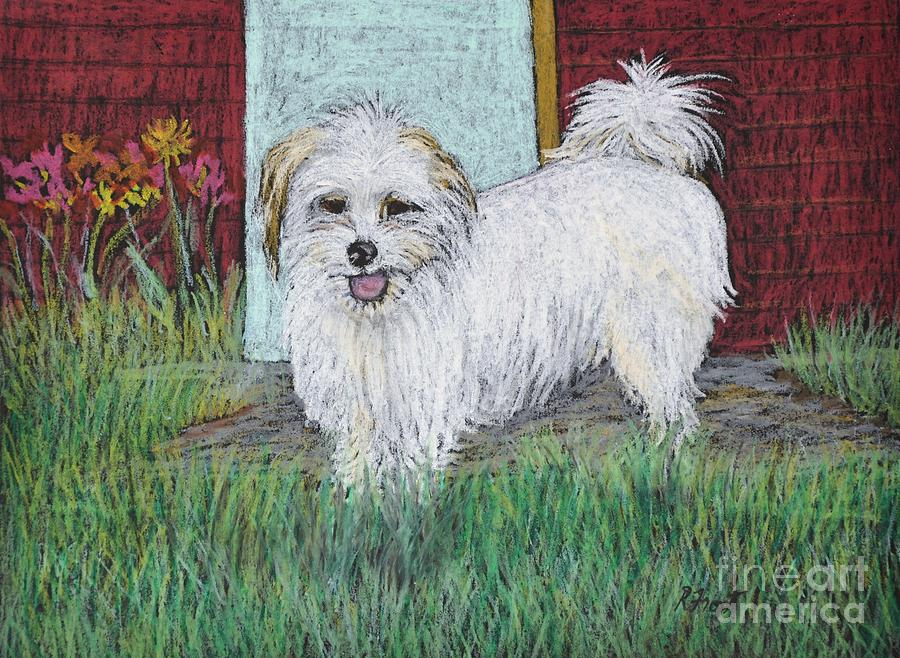 White Dogs Pastel - That Little White Dog by Reb Frost