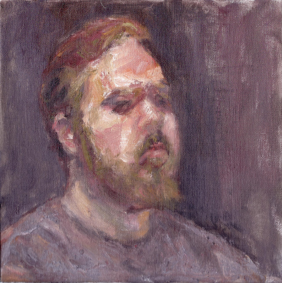 That Look - Contemporary Impressionist Portrait by Quin Sweetman