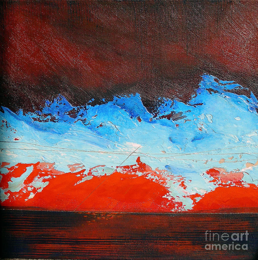 Abstract Painting - That Storm Is Passing by Lenore Walker