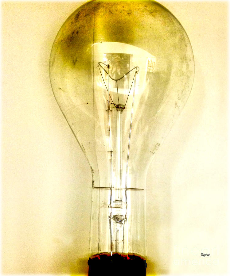 Lightbulb Photograph - That Which Is Light  by Steven Digman
