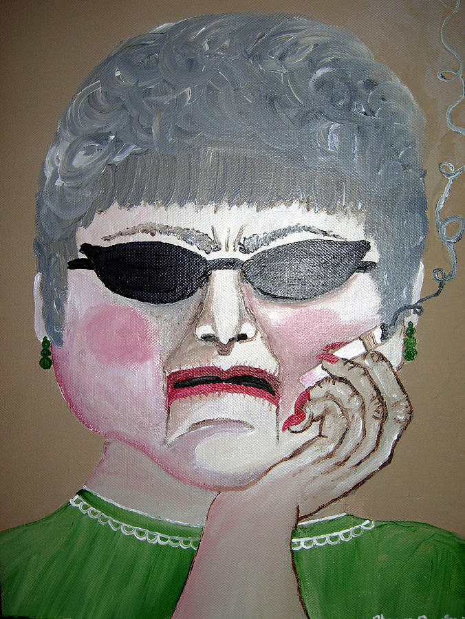 Old Woman Painting - That Woman by Sharon Supplee