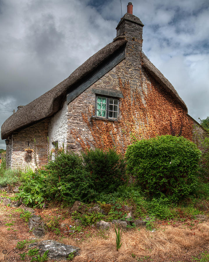 Thatched cottage 02 by Beverly Cash