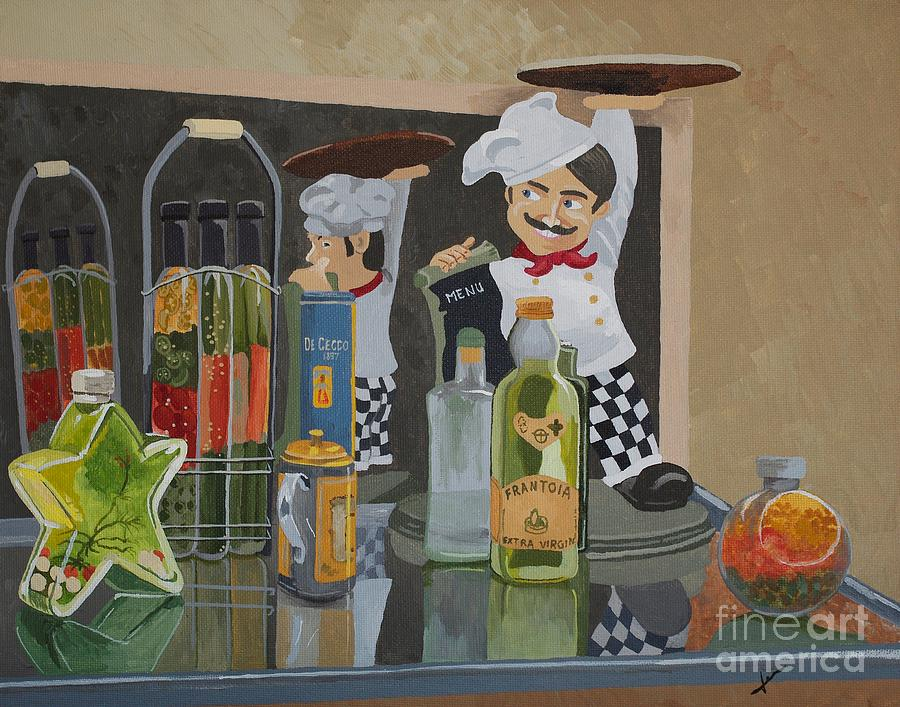 Restaurant Painting - Thats Amore II - Like A Big Pizza Pie by Jennifer  Donald