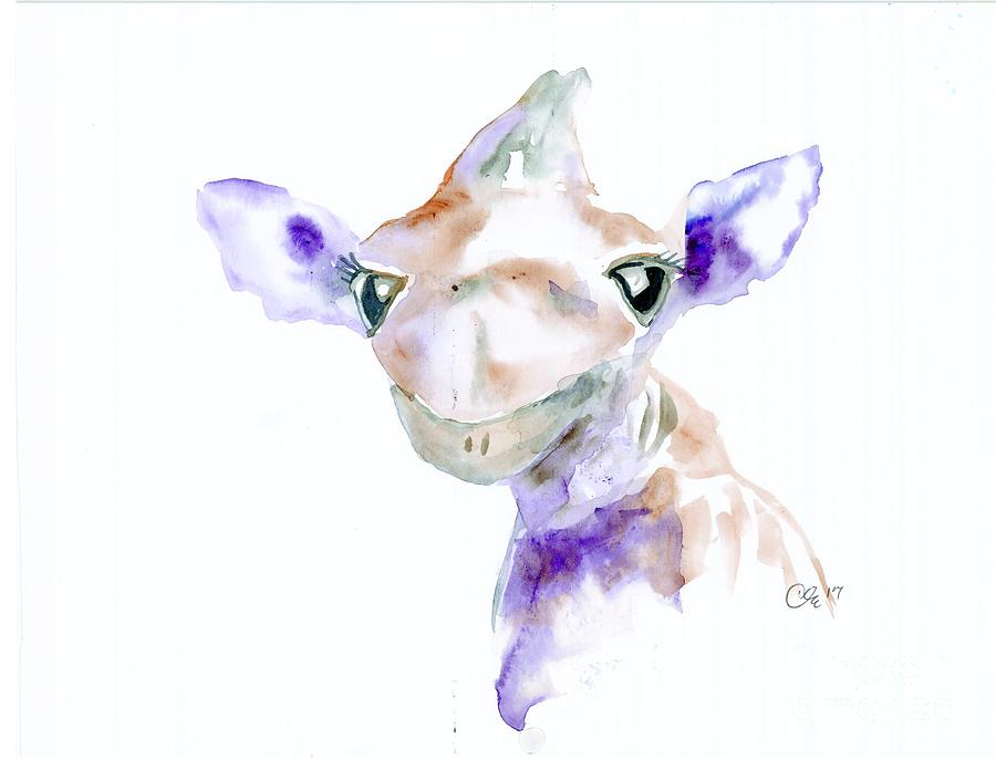 Giraffe Painting - Thats Darn Cute by Cher Clemans