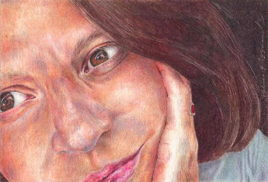 Melissa Drawing - Thats Me  by Melissa J Szymanski
