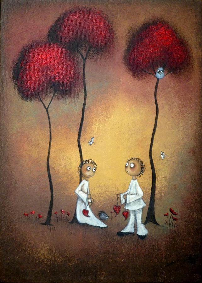 Whimsical Painting - Thats What Friends Are For by Charlene Zatloukal