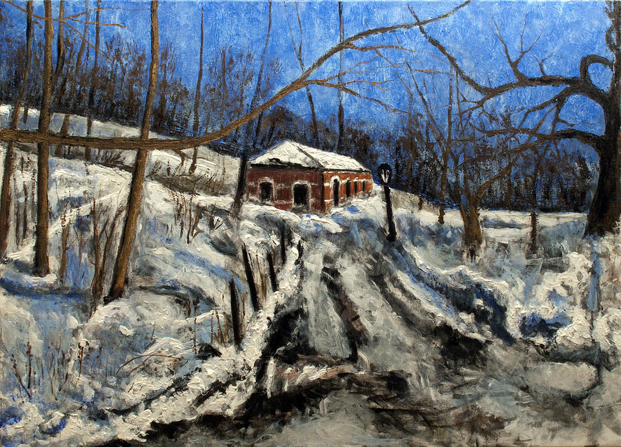 Landscape Painting - Thaw by Vladimir Kezerashvili