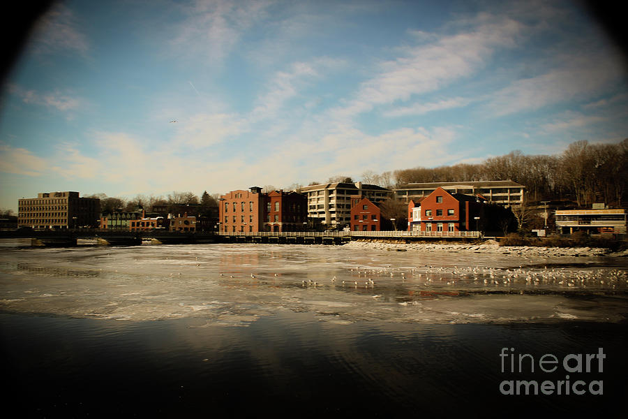Saugatuck River Photograph -  Thawing Saugatuck  by Victory Designs