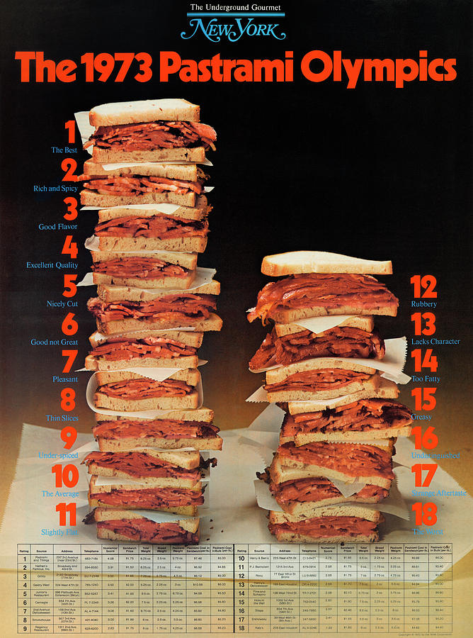 The 1973 Pastrami Olympics by New York Magazine