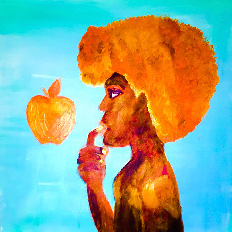 Apple Painting - The 2nd Byte by Ginnie McKnight