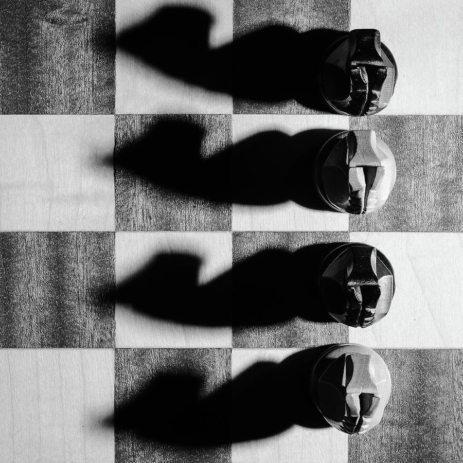 Chess Photograph - The 4 horsemen by Kolbein Svensson