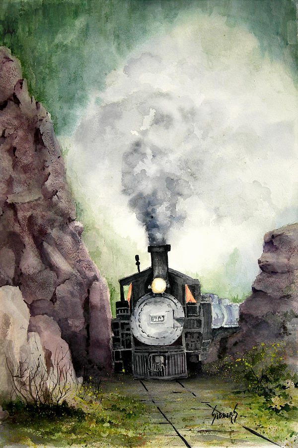 Train Painting - The 413 by Sam Sidders