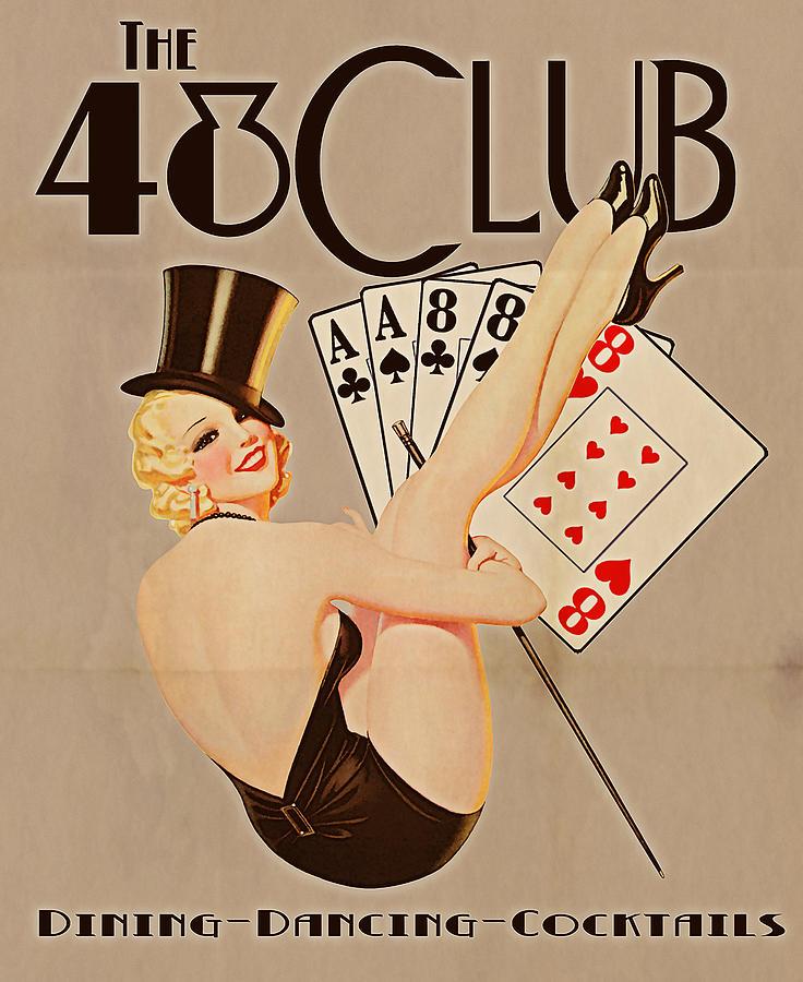 Vintage Digital Art - The 48 Club by Cinema Photography