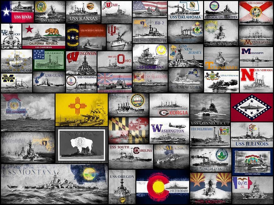 The 50 States and Their Battleships by JC Findley