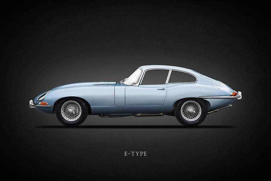 Jaguar E Type Photograph - The 65 E-type Coupe by Mark Rogan
