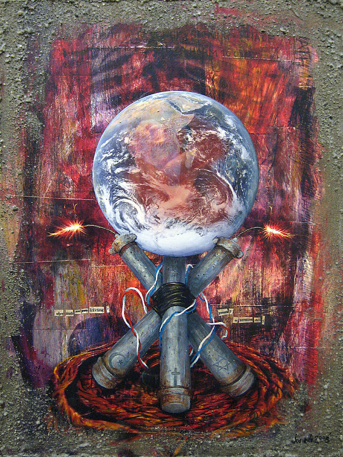 Acrylic Digital Art - the 7 contemporary sins - Wrath by Janelle Schneider