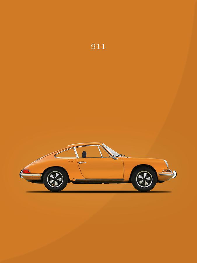 Porsche 911 Turbo Photograph - The 911 1968 by Mark Rogan
