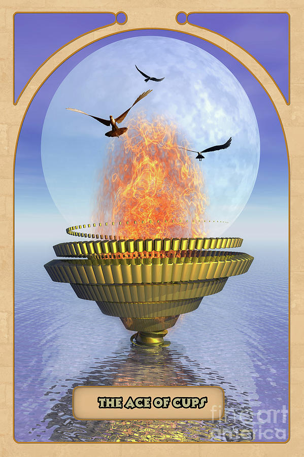 Magic Digital Art - The Ace Of Cups by John Edwards