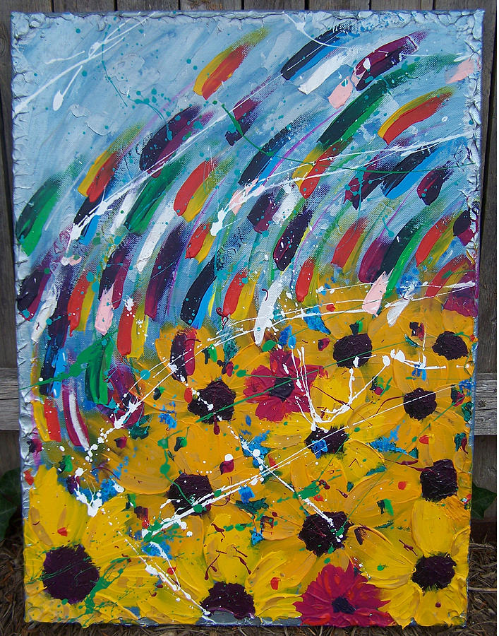 Abstract Painting - The Acid Rain Falls by Nino  B