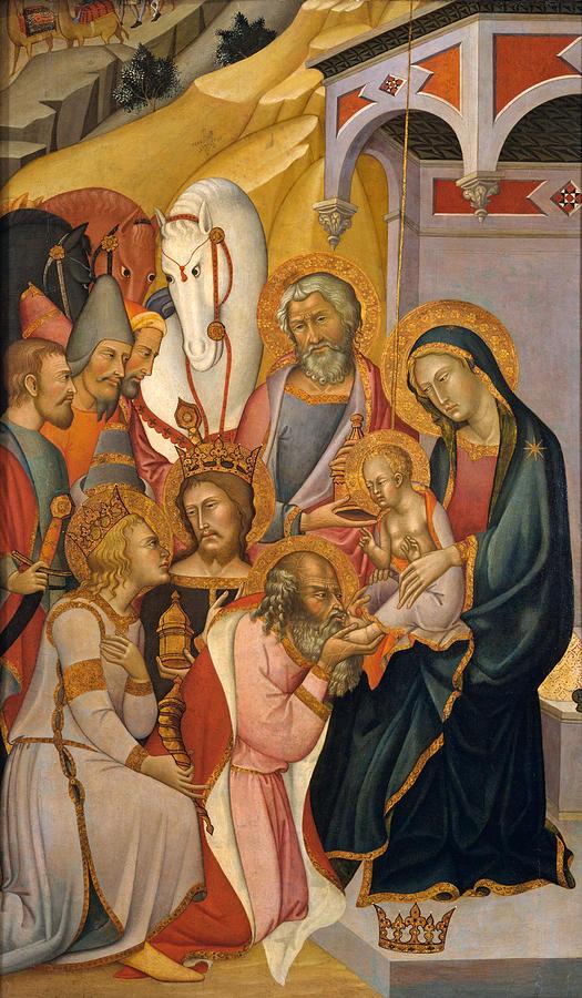 Bartolo Di Fredi Painting - The Adoration Of The Magi by Bartolo di Fredi