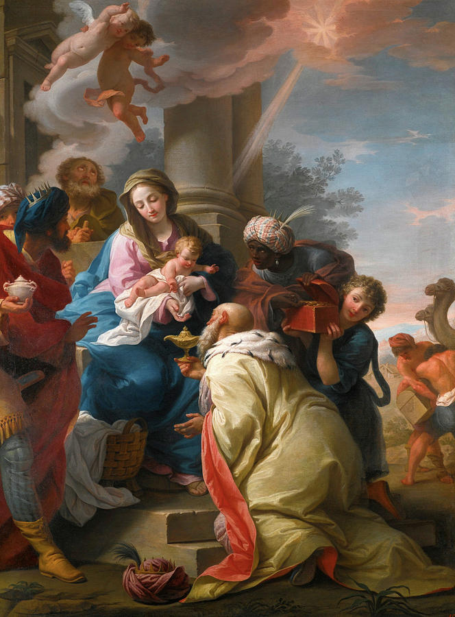 The Adoration Of The Magi Painting - The Adoration Of The Magi by Giuseppe Peroni