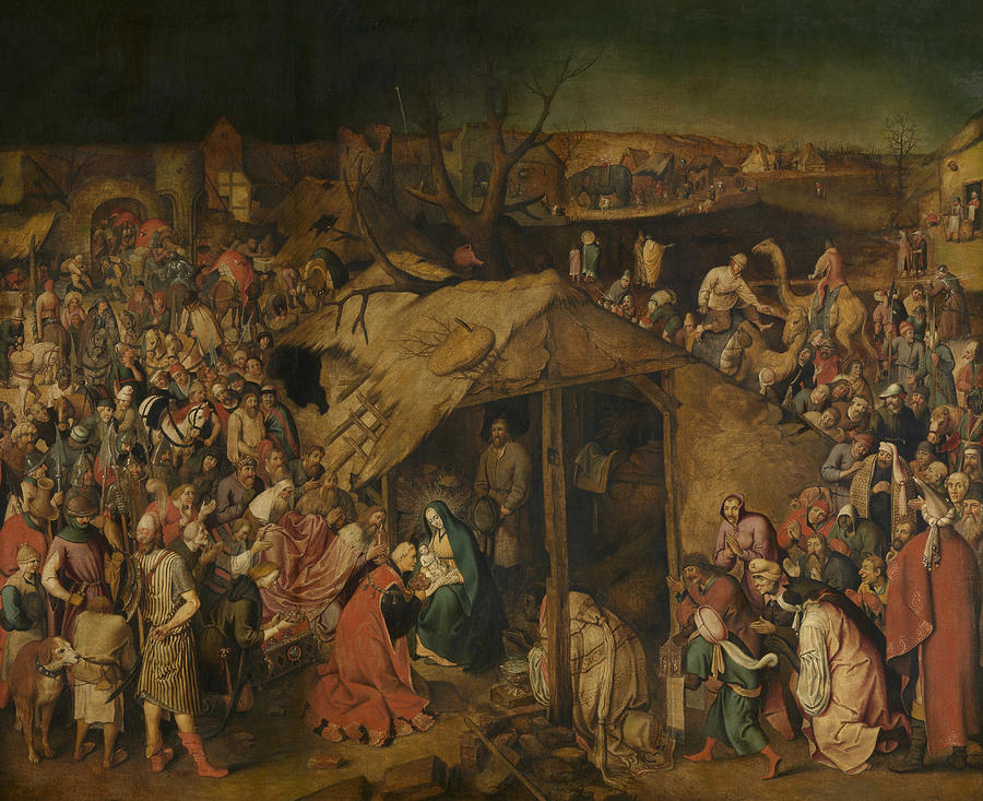 Flemish Painters Painting - The Adoration Of The Magi by Pieter Brueghel the Younger