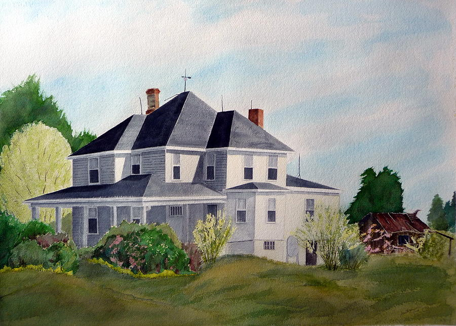 Historic House Painting - The Adrian Shuford House - Spring 2000 by Joel Deutsch