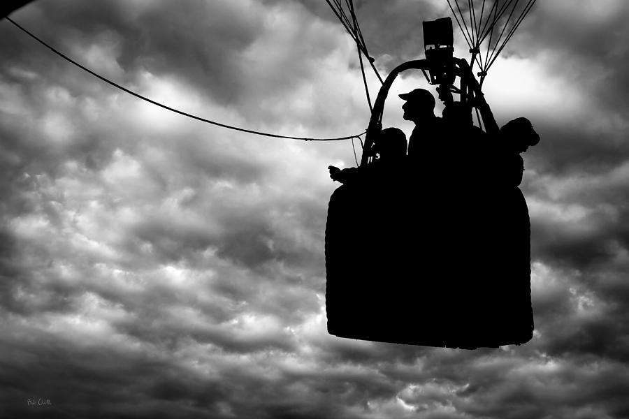 Silhouette Photograph - The Adventure Begins  Hot Air Balloon by Bob Orsillo